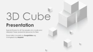01 3D Cube PPT Backgrounds