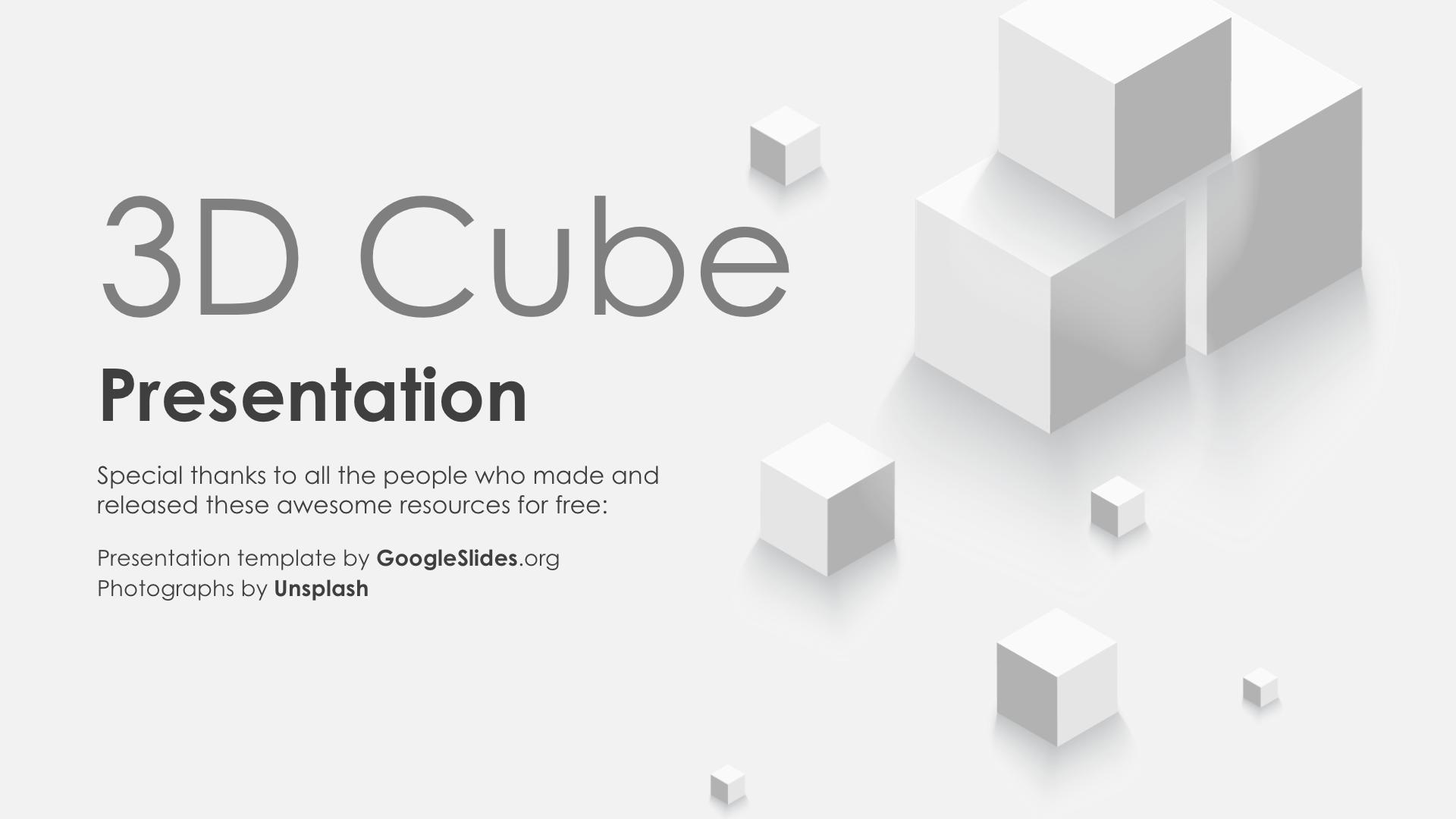 3D Cube PPT Backgrounds