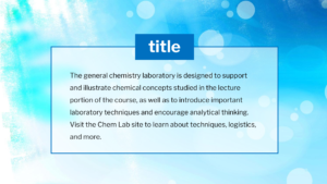 Chemistry Labs Template