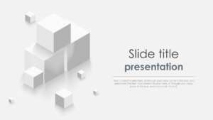 Cube Slide powerpoint template