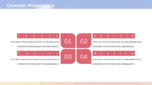 Presentation Cosmetic Template