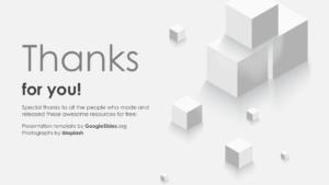 Cube Slide Thanks you