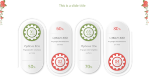 Flower border powerpoint template