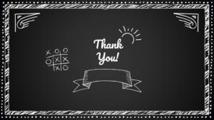 Thank you Blackboard