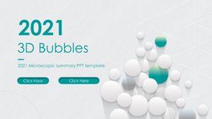 3D Bubbles PPT Template