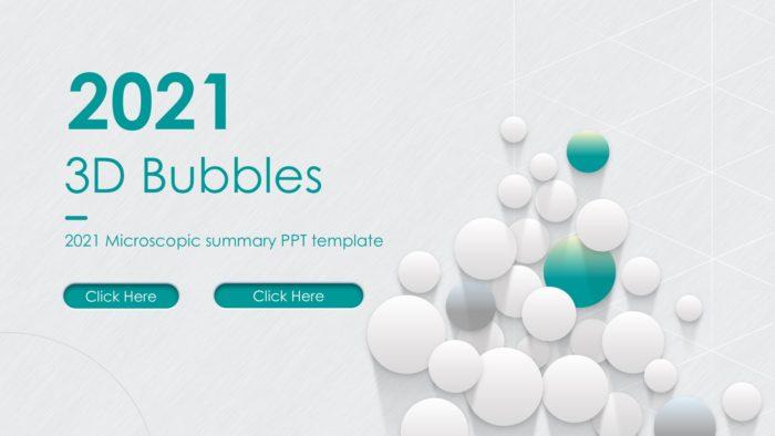 3d Bubbles Slide Template 3d Graphics Chemistry Google Slides
