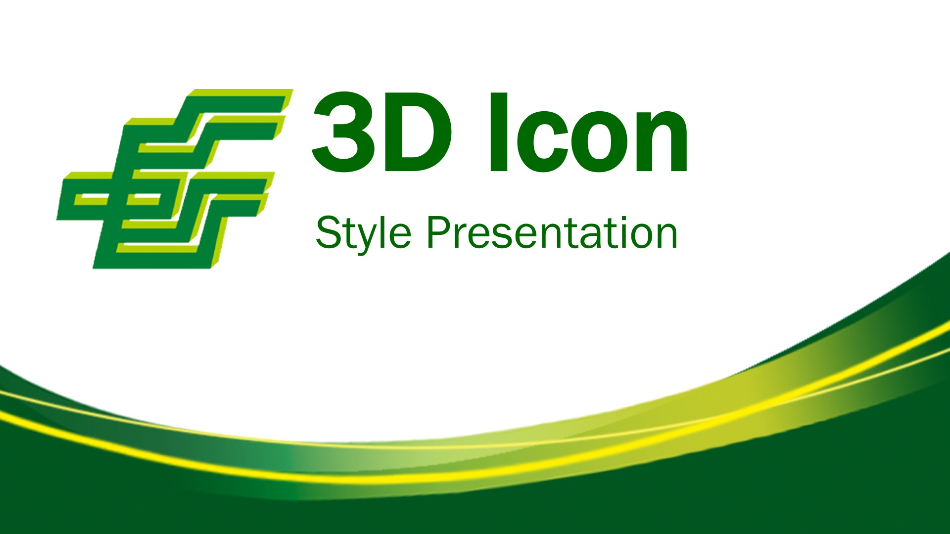 3D Icon Style Presentation