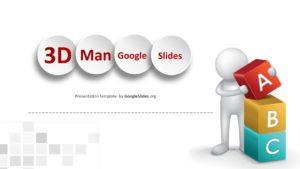 3D Man Google Slides