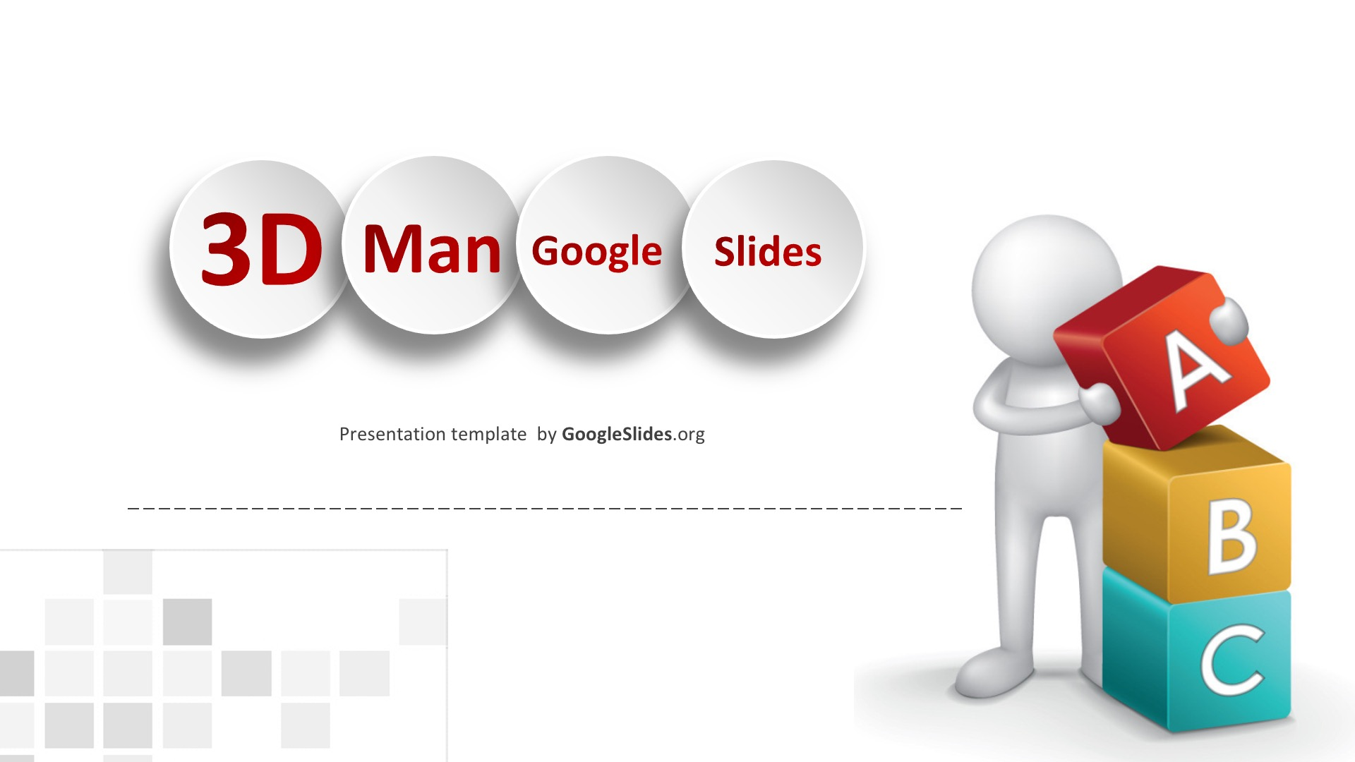 3D Man Google Slides