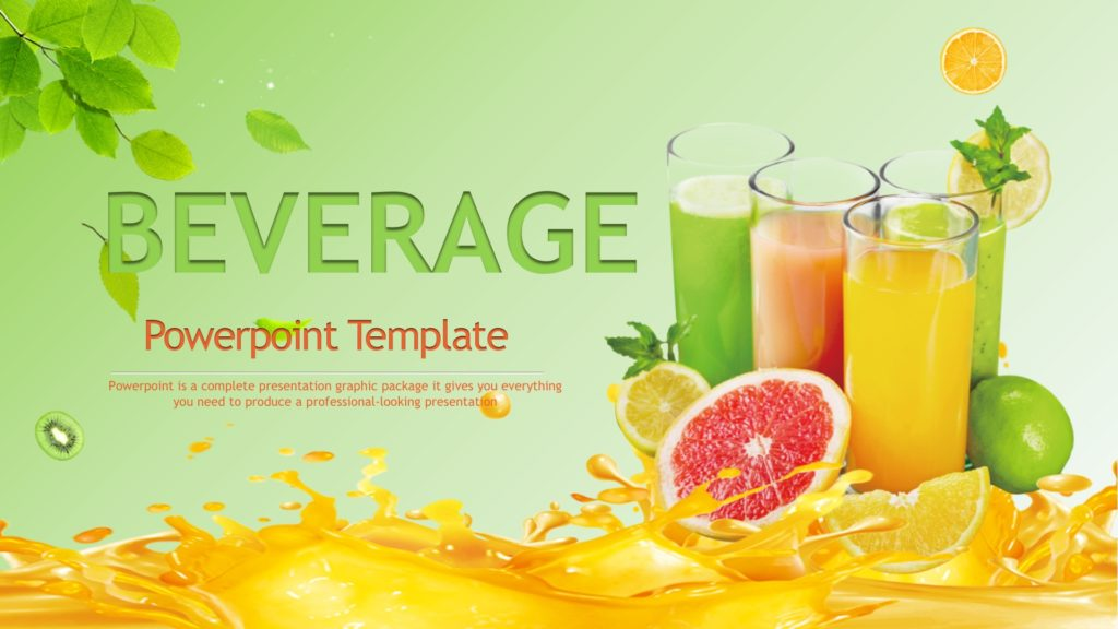 Beverage Drinks Powerpoint Template