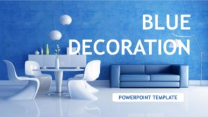 Blue Decoration Powerpoint Template
