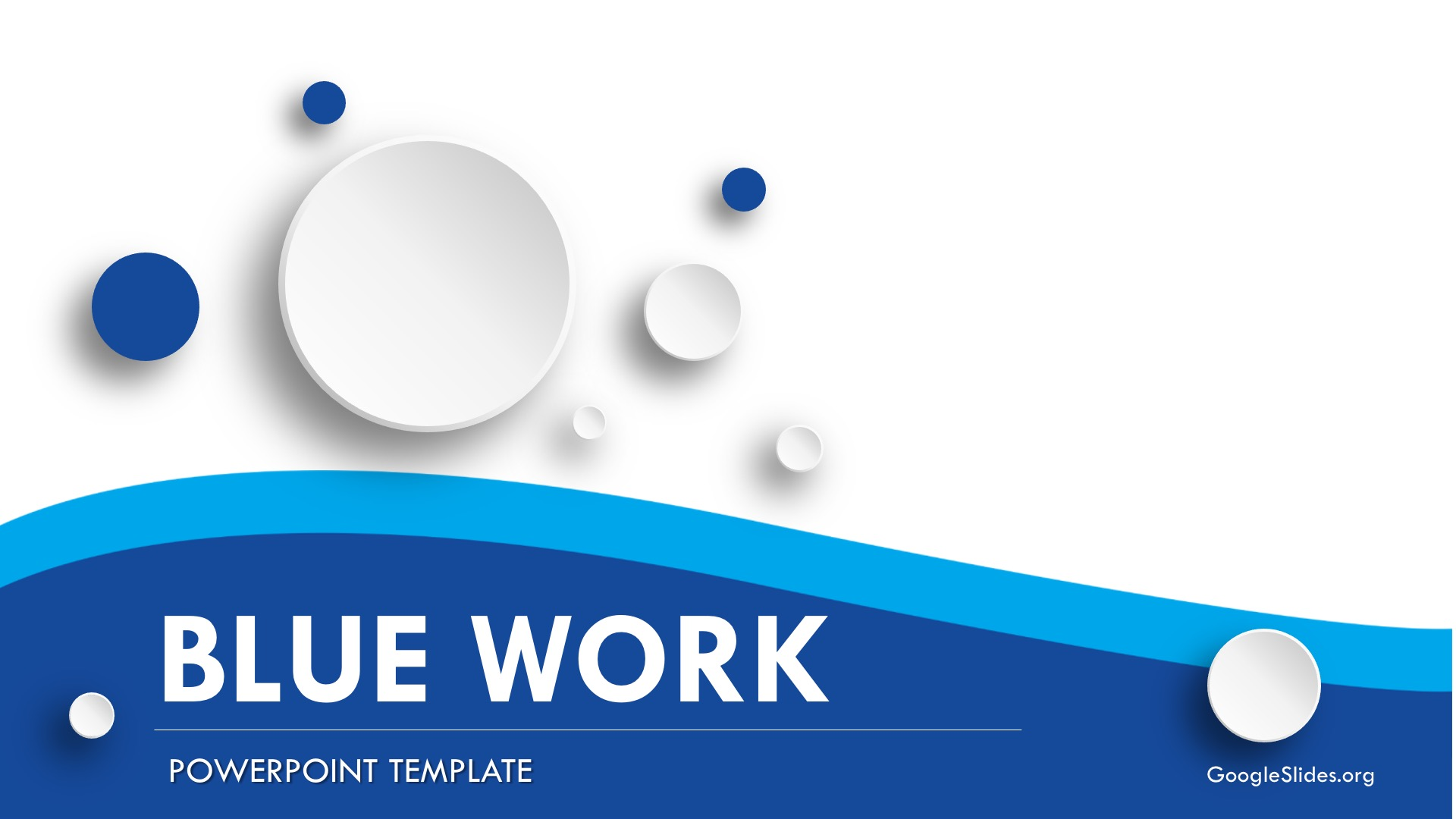 Blue Work Report Powerpoint Template