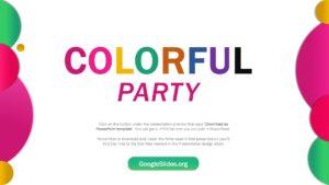 Colorful Party Google Slides