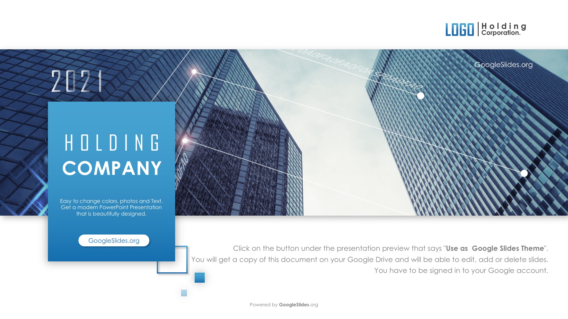 Holding Company Google Slides