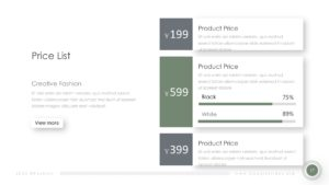 Powerpoint Fashion Price List