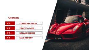 Car Showroom Slide Template
