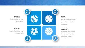 Blue Decoration Sports