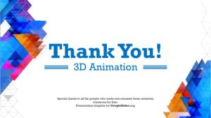 3D Animation Thank you