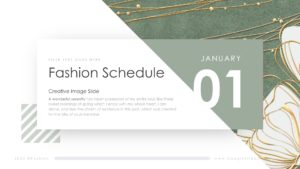 Fashion Schedule Slides