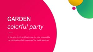 Garden Party PPT Template
