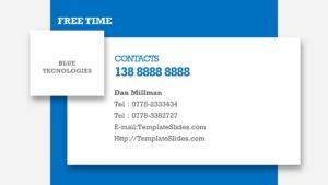 Blue Technology PPT Slides