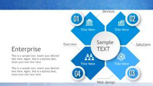 Blue Decoration Presentation