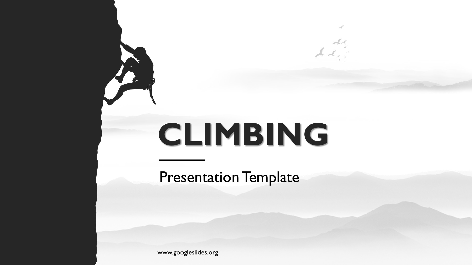 Climbing Powerpoint Theme