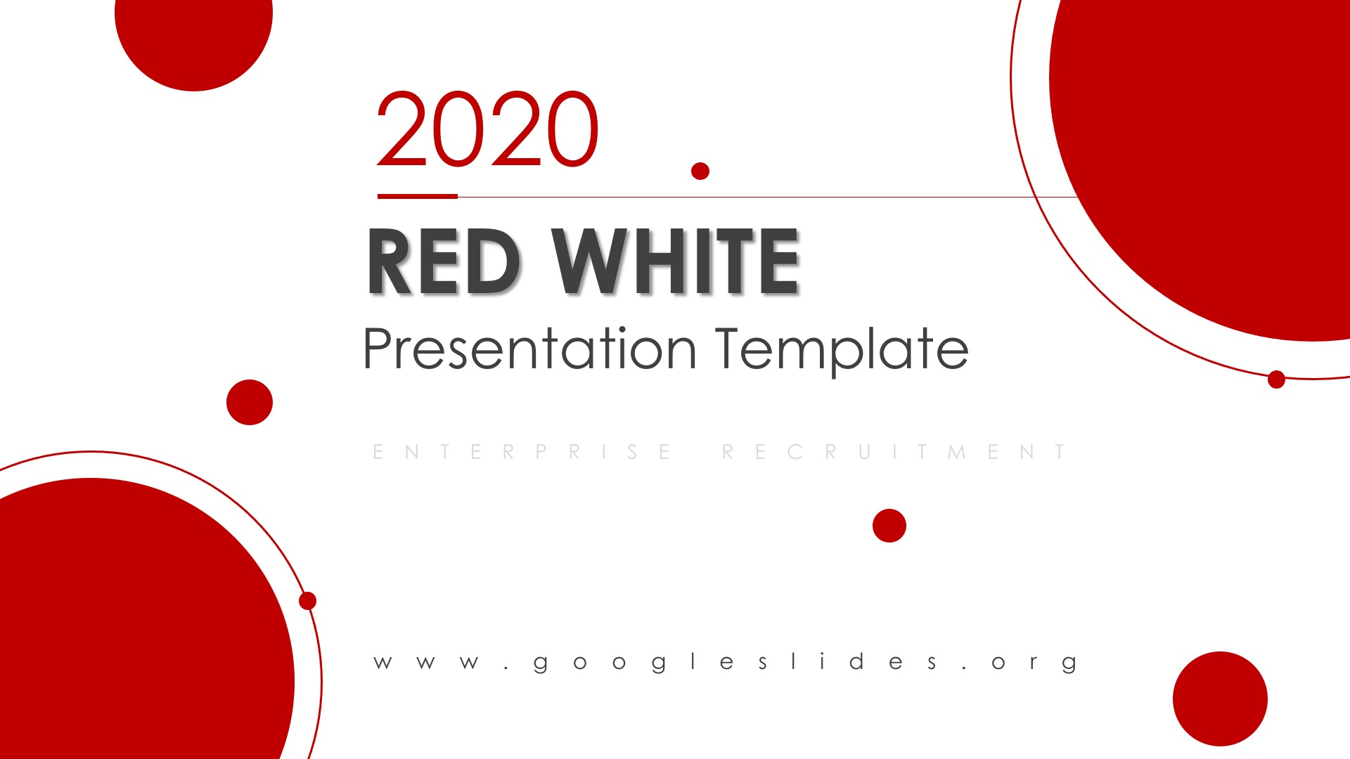 Red White PPT Template