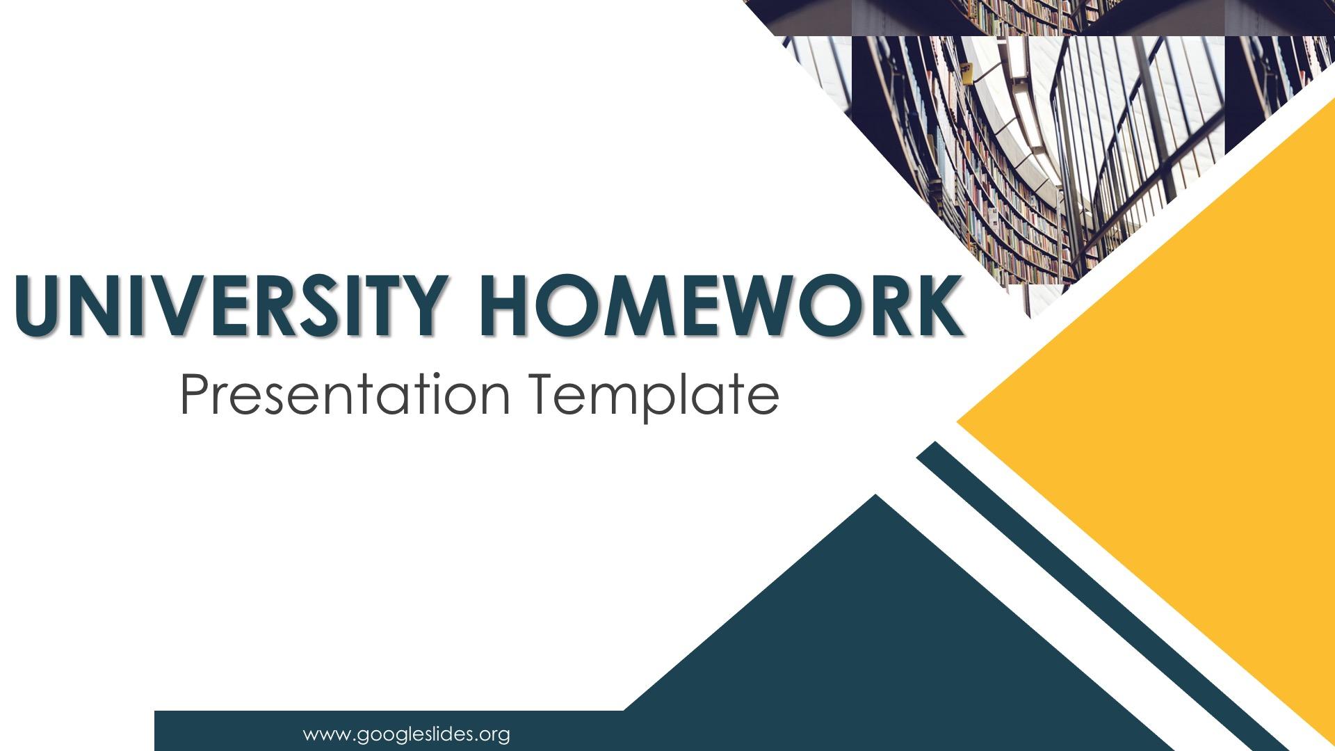 University Homework PPT Slides
