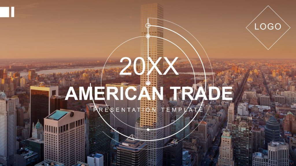 American Trade Powerpoint Template