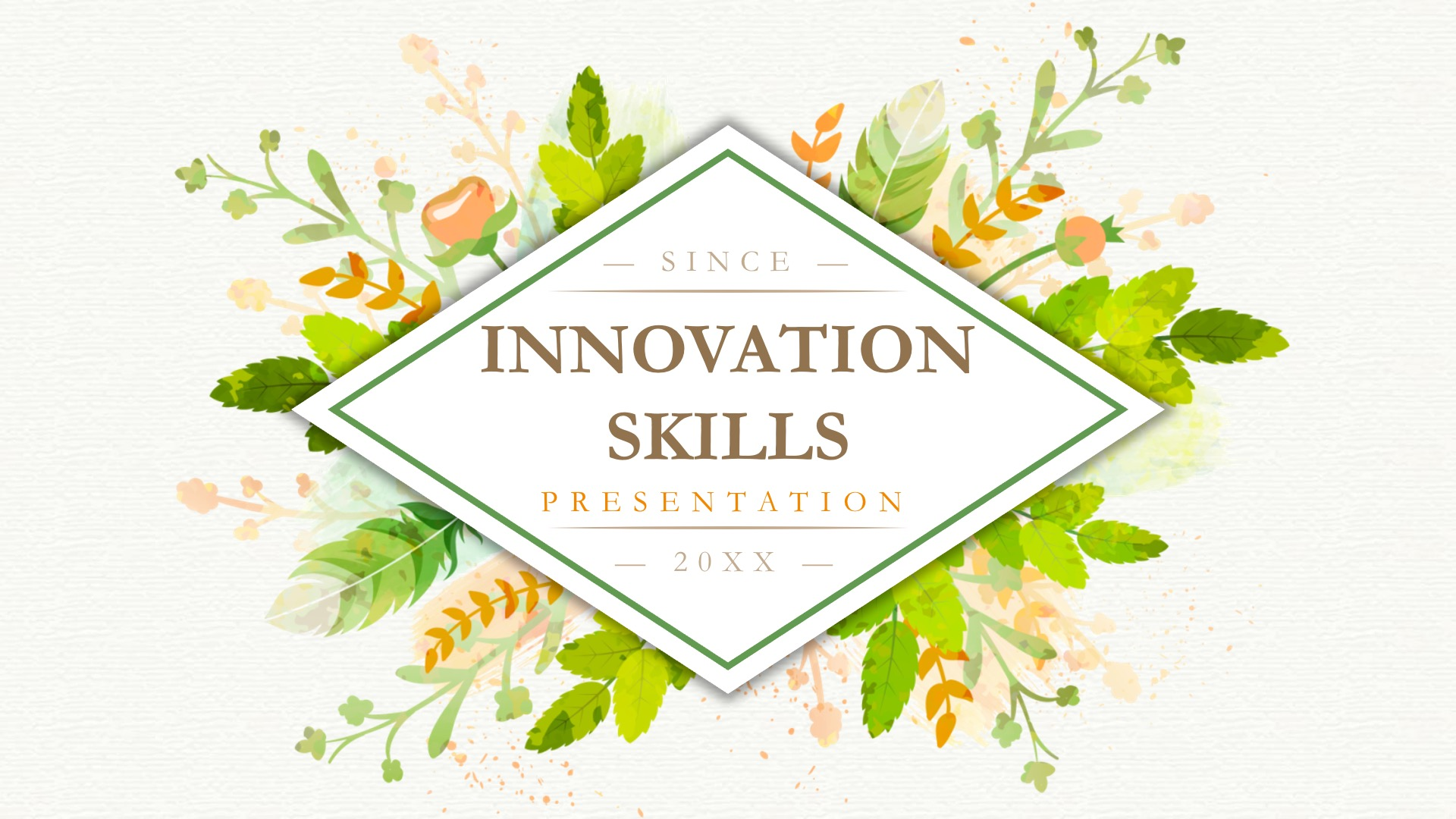 Innovation Skills Powerpoint Template